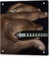 My Afro Blues Harmonica - Solo Blues Acrylic Print