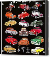 Hot Rod Ford Poster Acrylic Print
