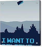 My I Want To Believe Minimal Poster- Tardis Acrylic Print