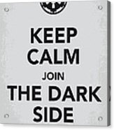 My Keep Calm Star Wars - Galactic Empire-poster Acrylic Print