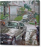 My Lincoln In The Rain Acrylic Print