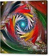 My My Beautiful Laundrette-fractal Art Acrylic Print by Karin Kuhlmann
