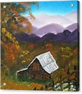My Neighbors Barn Big Sandy Mush Nc Acrylic Print