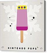 My Nintendo Ice Pop - Princess Peach Acrylic Print by Chungkong Art
