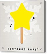 My Nintendo Ice Pop - Super Star Acrylic Print
