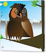 My Owl Acrylic Print by Kenneth Feliciano