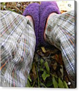 My Purple Slippers Acrylic Print by Christy Usilton
