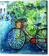 My Red Bike  Acrylic Print