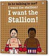 My Rocky Lego Dialogue Poster Acrylic Print by Chungkong Art