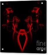 My Smoking Heart Red Acrylic Print