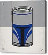 My Star Warhols Jango Fett Minimal Can Poster Acrylic Print