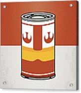 My Star Warhols Luke Skywalker Minimal Can Poster Acrylic Print