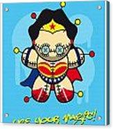 My Supercharged Voodoo Dolls Wonder Woman Acrylic Print