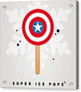 My Superhero Ice Pop - Captain America Acrylic Print