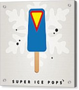 My Superhero Ice Pop - Superman Acrylic Print by Chungkong Art