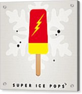 My Superhero Ice Pop - The Flash Acrylic Print by Chungkong Art