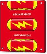 My Superhero Pills - The Flash Acrylic Print