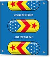 My Superhero Pills - Wonder Woman Acrylic Print