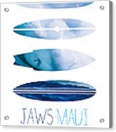 My Surfspots Poster-1-jaws-maui Acrylic Print