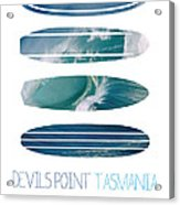 My Surfspots Poster-5-devils-point-tasmania Acrylic Print