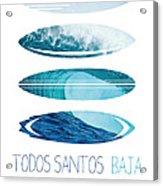 My Surfspots Poster-6-todos-santos-baja Acrylic Print