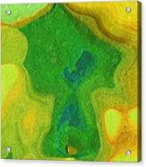 My Teddy Bear - Digital Painting - Abstract Acrylic Print