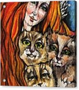 My Three Cats Acrylic Print