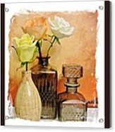 My Three Roses Still Life Acrylic Print