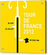 My Tour De France 2012 Minimal Poster Acrylic Print
