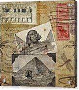 My Trip To Egypt 1914 Acrylic Print by Carol Leigh
