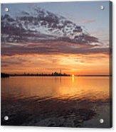 My World This Morning - Toronto Skyline At Sunrise Acrylic Print