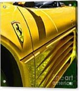 My Yellow Ferrari Acrylic Print