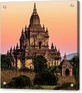 Myanmar, Bagan, Ancient Temple At Acrylic Print