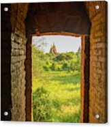 Myanmar Bagan View Of Some Pagodas Acrylic Print