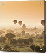 Myanmar Burma - Balloons Flying Over Acrylic Print