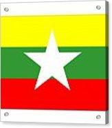Myanmar Flag Acrylic Print