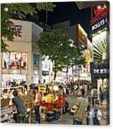 Myeongdong Shopping Street In Seoul South Korea Acrylic Print