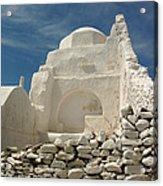 Mykonos Church Acrylic Print