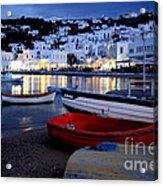 Mykonos Greece Acrylic Print