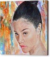 Myra Molloy Winner Of Thailand Got Talent II Acrylic Print by Jim Fitzpatrick