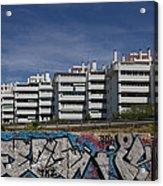 Myramar Apartments With Graffiti Acrylic Print