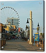 Myrtle Beach Boardwalk Acrylic Print