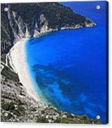 Myrtos Beach Kefalonia Greece  Acrylic Print