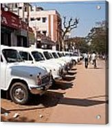 Mysore Taxis Acrylic Print