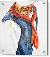 Mysterious Cowboy Acrylic Print