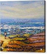 Mysterious Ocean Beach Rocks Acrylic Print