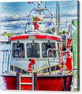 Mystic Fireboat Acrylic Print
