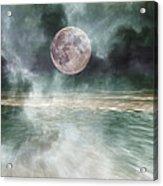 Mystical Beach Moon Acrylic Print by Betsy C Knapp