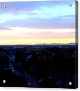 Mystical Munich Skyline With Alps During Sunset II Acrylic Print