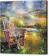 Mystical Sam On Topsail Acrylic Print by Betsy C Knapp